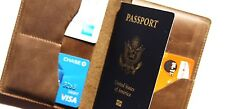 REAL LEATHER PASSPORT HOLDER, ID HOLDER, CARD HOLDER, 3 IN 1.Free USA shipping!