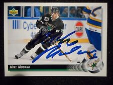 HALL OF FAMER MIKE MODANO AUTOGRAPHED CARD (NM)