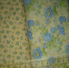 Quilt, Sew, Fabric - 2 PCS Benartex True Blue - 2 yds by Eleanor Burns - Blue/Ye