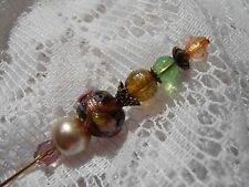 "OOAK Steam Punk Victorian 6"" Ladies Hat Pin Hatpin (Recreated) Jewelry Beads #24"