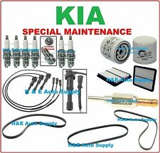 For 03-06 KIA SORENTO V6-3.5L TUNE UP KITS: SPARK PLUG, WIRE SET, BELT & FILTERS