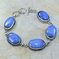 """Sparkling Dichroic Glass 100% Pure 925 Sterling Silver Bracelet 8.75"""" #A55178"""