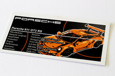Lego Technic UCS / MOC Sticker for Porsche 911 GT3 RS 42056