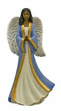Humble Prayer Angel Figurine in Blue African American NEW in Box (17725)