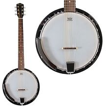 New Jameson 6 String Banjo Guitar Closed Back 24 Brackets Remo Head & Maple Neck