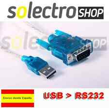 CABLE ADAPTADOR USB 2.0 A PUERTO SERIAL SERIE DB9 RS 232 PARA PC PORTATIL C0010