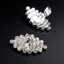 1Pair Sparking Rhinestone Crystal Bridal Shoe Clips Tone Boots Buckle Decoration