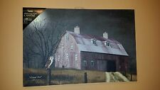 Lighted MIDNIGHT MOON Picture, Billy Jacobs, Owl, Barn, Primitive, 6 hour Timer