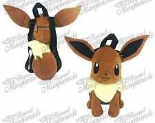 "14"" Nintendo Pokemon Go 3D Eevee Shaped Large Brown Plush Backpack for Kids"