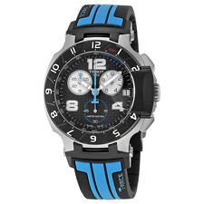 Tissot T-Race MotoGP Chronograph Black Dial Black and Blue Silicone Mens Watch