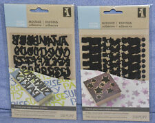 Inkadinkado Make Your Own Stamps - STICKY FOAM: ALPHABET / DOTS / STARS: NEW!!