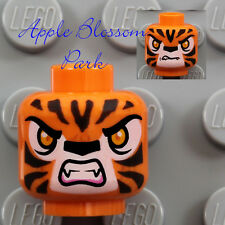 NEW Lego ORANGE MINIFIG HEAD - Chima Tiger Tormak Monster Fang Teeth Cat Animal
