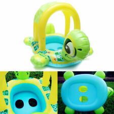 Safe Tortoise Kids Baby Inflatable Pool Float Seat Boat Water Swim Play Ring