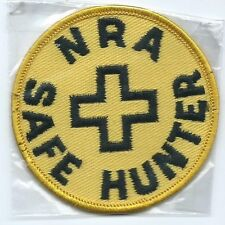 NRA Nat'l Rifle Ass'n,Safe Hunter patch, 3 in dia