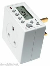 Timeguard TG77 Compact Digital Electronic Plug In Time Switch 24 Hr 7 Day Timer