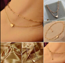 Sexy Gold Ankle Anklet Heart Love Chain Bracelet Beach feet Foot Jewelry