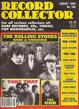 Record Collector Magazine No.168 Aug.1993 The Rolling Stones, Take That, The Orb