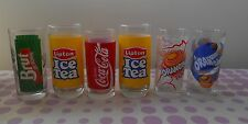 lot de 6 verres neuf ancien collection COCA COLA ORANGINA ICE TEA BRUT DE POMME