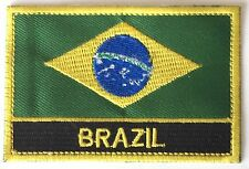 Brazil Embroidered Sew or Iron on Patch Badge