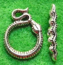 10Sets Tibetan Silver SNAKE Toggle Clasps Connectors Hooks Jewelry Finding C218