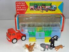 Hong Kong Plastic MERCEDES CIRCUS TRUCK WITH ANIMALS - ( friction ) 250C