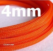 4mm x 1m Orange Braided polyester sleeve Cable Cover 3 weave High densely Diy