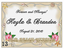 15 PERSONALIZED BEACH WEDDING FAVORS MAGNETS sand desgn