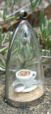 Coffee Lovers! diorama necklace caffiene cappucino cup saucer spoon sugar