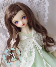 1 4 7-8 Dal BJD SD MSD Wig MDD DOD LUTS DOC Dollfie Doll Curly Brown wigs Toy