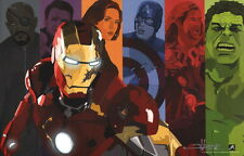 Jimmy Hasse SIGNED Avengers Movie Art Print Iron Man Thor Black Widow Hulk