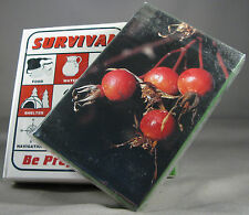 Survival Playing Cards + Plant Identification Cards Pocket Guide Kit Camping W
