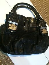 "Juicy Couture, ""medio Freestyle Hobo Bolso Hobo 'Cuero Negro"
