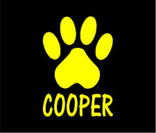PAW PRINT PERSONALIZED Dog Cat Pet Vinyl Decal Car Window Bumper Sticker