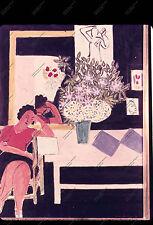 """diapositive n19 Matisse, """"Liseuse sur fond noir"""" 1948, Paris, M.N.A.M"""