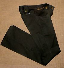 CHIC DOLCE & GABBANA MAINLINE SKINNY FLARED BOTTOM UTILITY TROUSERS