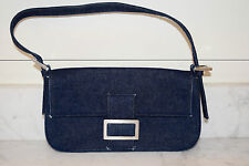 NEW Stuart Weitzman Blue Denim Small Shoulder Bag Handbag Purse