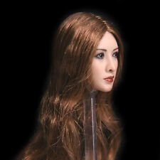 """1/6 Scale Asian Brown Wig Head Sculpt Model For 12"""" Female JIAOUDO Phicen Body"""