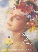 Publicité Advertising 016 1985 Nina Ricci Fleur de Fleurs