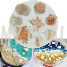 Shell Conch Starfish Silicone Fondant Mould Cake Decor Sugarcraft Gum Paste Mold
