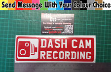 DASH CAM  RECORDING  Sticker x1 Many Colours Available, Car, Van, Lorry, safety