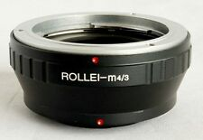 Rollei QBM Lens to Micro 4/3 M4/3 M43 Mount Adapter GF5 GX1 G3 EP3 OM-D RO-M43