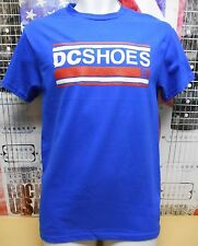 DC SHOES BLUE VINTAGE GRAPHIC LOGO TSHIRT