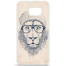 Coque Housse Etui Samsung Galaxy S6 à motif Silicone Gel - B.S (Cool Lion)