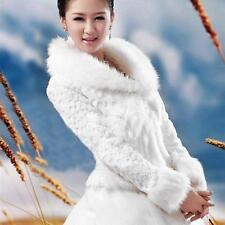 Ivory Wedding Dress Wrap Jacket Coat Long sleeve Shawl Evening Capes