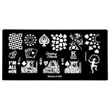 Nail Art Seal Template Stamping Image Plate Poker Spades Clown Nail Tools A-09