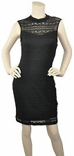Guess Los Angeles  NWT Illusion Neck Eyelet Lace Minie Dress Black Size 6