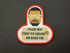 Kanye West Needs $$$ Morale Patch Yeezy God Bless You Hook & Loop