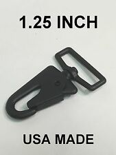 "1.25"" USA MADE HK H&K Clip Swivel Sling Clip Snap Hook Quick Release BLK"