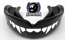 Boxing Wrestling MMA Black 'FANGS' Teeth Gum Shield Mouth Guard Protection