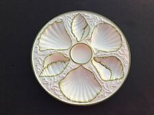 WONDERFUL VINTAGE OYSTER PLATE PLATTER SHELL AND SEAWEED MOTIVE - MADE IN ITALY